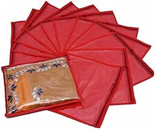 Fashion Bizz Fashion Bizz Saree Cover Set of 12-Red
