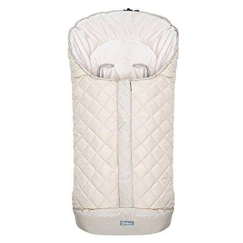Orzbow - sacos carrito bebe invierno,Saco universal silla paseo,Mantas Envolventes Invierno para Cochecito,Multifuncional Bebé Cubrepiernas Impermeable (Beige)