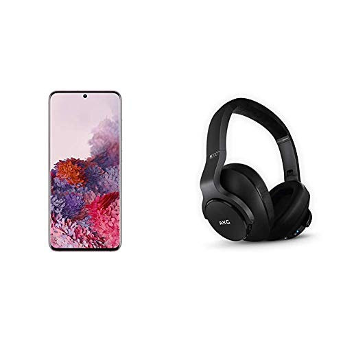 Samsung Galaxy S20 5G Factory Unlocked New Android Cell Phone US Version, 128GB, Cloud Pink & N700NC M2 Over-Ear Foldable Wireless Headphones, Black