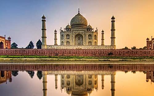 ZXSDFV Puzzle 1500 Piezas para Adultos DIY Grande Wooden Jigsaw Puzzles Taj Mahal, India Puzzle Adultos 1500 Piezas Rompecabezas De Juguete