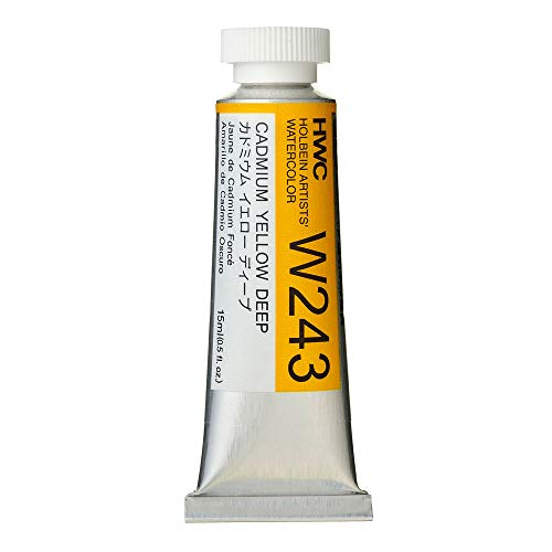 Holbein Artist's Watercolor 15ml Tube (Cadmium Yellow Deep) W243