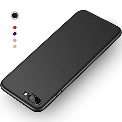 Aollop Hülle für iPhone 7 Plus/iPhone 8 Plus, Ultra Dünn,Staubschutz,Anti-Kratz Schutzhülle, Federleicht Hülle Bumper Cover Schutztasche für iPhone 7 Plus/iPhone 8 Plus(5.5 Zoll Schwarz)