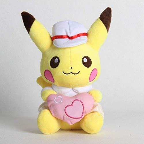 XINRUIBO Pokemon Pikachu Plüsch-Liebe-Stoff-Tasche Puppe Anime for Freundin Kinder Stofftier Dekorative Einrichtungsgegenstände 25Cm Pikachu Kuscheltier
