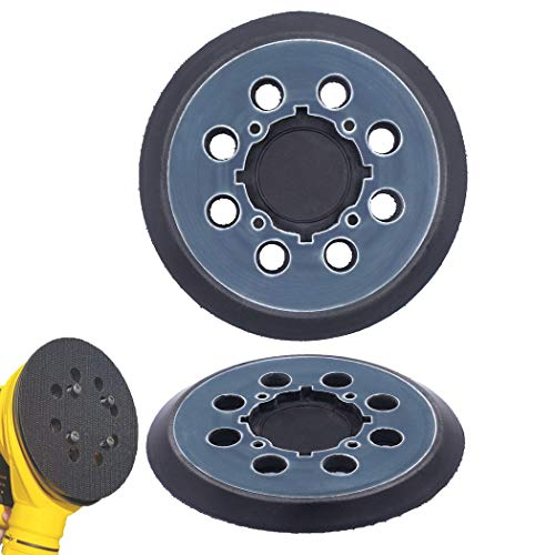 2 Pack 5 inch 8 Hole Hook and Loop Replacement Sanding Pad for DeWalt DWE64233 & N329079 Compatible with DWE6423/6423K, DWE6421/6421K, DWE6421-B2, DWE6421-B3, DWE6421-BR, DCW210B (2 Packs)