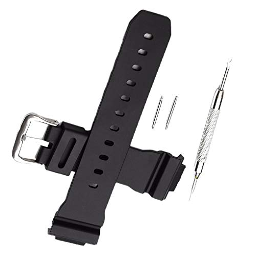 rongweiwang Sostituzione Cinghia Cinturino per Casio G Shock DW-6900 Gomma di Silicone Cinturino Ear Batch ago