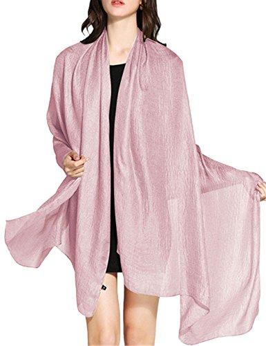 Wedtrend WedTrend Damen Festlich Stola Sommer Schal Sonnenschutz Bolero für Hochzeit Abendkleid Sandstrand Leichtrosa WTC30002 Light Pink