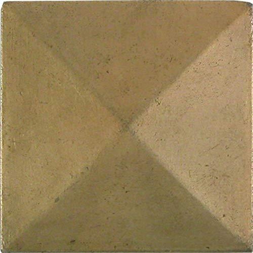 Brass Elegans 30pt-ab Pyramid design in metallo da 5,1cm x 5,1cm Accent tile, finitura in ottone anticato