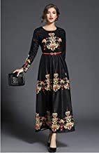 Y&D CASUAL A LINE Dress FOR WOMEN BLACK M