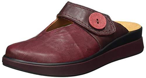 THINK! Damen MEGGIE_3-000035 chromfrei gegerbte Wechselfußbett Sandale, 5000 Rosso/Kombi