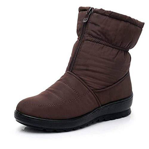 Botas de nieve mujer mujer tobillo plataforma cuñas moda deslizamiento en invierno impermeable nuevo más terciopelo caliente zapatos