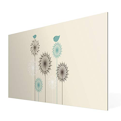 Banjado Wechselscheibe für IKEA GYLLEN Wandlampe | Glasscheibe für Wandleuchte 56x26cm | Echtglas Motiv Kugelfontänen | Querformat