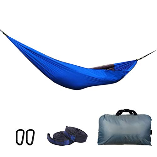 Macabolo Sac de couchage léger pour l'hiver et le camping 280cm*140cm bleu roi