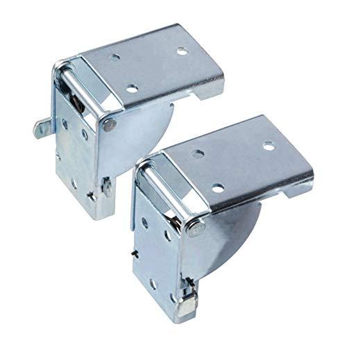 Gedotec Klapptisch-Beschlag Klappenbeschlag Tischplatte Klappbeschlag klappbar | Klappen-Scharnier für Bänke & Tischbeine & Möbelfüße | Stahl verzinkt | 2 Stück - Klappscharnier mit Arretierung