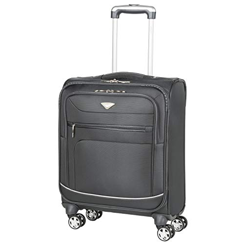 Flight Knight Lightweight 8 Wheel 840D Soft Case Suitcases Maximum Size for Emirates, RyanAir, Vueling, Thomas Cook Cabin Carry On Hand Luggage Approved for 78 Airlines Including easyJet, BA & More!