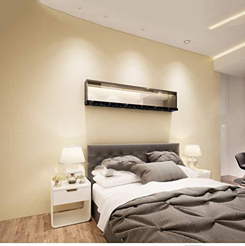 Houndstooth Wallpaper 3D Plain Non-woven Slaapkamer Woonkamer Slaapbank TV Achtergrond Muur Beige