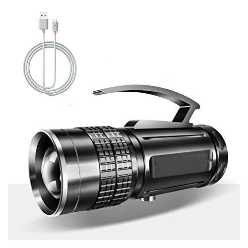 Yanqhua Luces de Camping Pesca LED lámpara de luz con el Soporte de Caza al Aire Libre del Reflector de la Linterna portátil Blanco/BLU-Ray/USB Recargable Amarillo (Emitting Color : No Stand)
