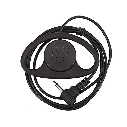 Camisin 1 PC 3.5mm D-Shape Escuche Solamente Auricular Auriculares para radios bidireccionales Walkie-Talkie Auricular de Radio