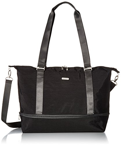 Baggallini Expandable Carry on Duffel, black/charcoal
