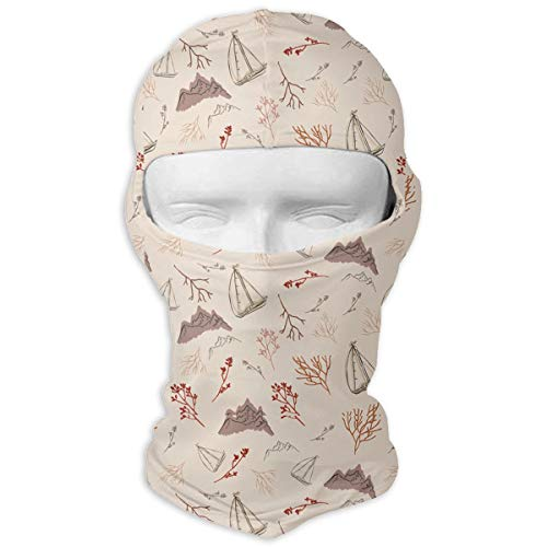 MKDOQS Simple Landscape Boats Full Face Mask Sun Dust Wind Protection Durable Breathable Seamless Face Mask Bandana