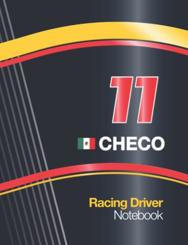 """11 Checo Racing Driver: Notebook With Racing Car Livery Cover Design 2020 with 11 Race Number, 7.5"""" x 9.6"""" Size 110 College Ruled page (55 sheet) ... Car Maintenance Schedule..."""