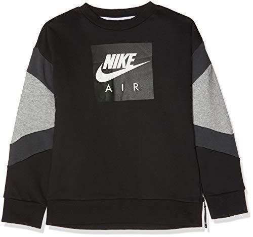 Nike Air Jungen Sweatshirt, Schwarz (Black/Dk Grey Heather/Anthracite 010), XS