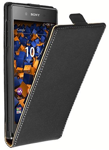 mumbi Tasche Flip Case kompatibel mit Sony Xperia Z5 Hülle Handytasche Case Wallet, schwarz