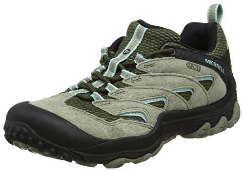 Merrell Cham 7 Limit Waterproof, Chaussures de Randonnée Basses Femme, Vert (Dusty Olive), 39 EU