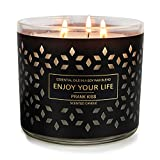 Large Jar Candles for Home Scented 3 Wick Barn Candles Stress Relief Aromatherapy Candle Gifts for Women Soy Wax 14.6 Ounce 125 Hours (Prank Kiss)