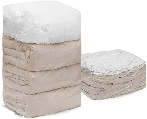 SANTREST Geen pompen nodig Cube Vacuum opslagtas premium ruimtebesparer voor troosters, kussens, 4 jumbo 80 cm × 100 cm × 38 cm, Closet Organizer voor Dedding, dekens, dekens