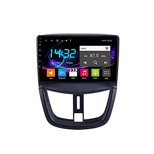 Android 10.0 Autoradio Sat Nav Radio per Peugeot 207 2006-2015 Navigazione GPS 9'' Unità principale Lettore multimediale MP5 Ricevitore video con 4G FM DSP WiFi SWC Carplay