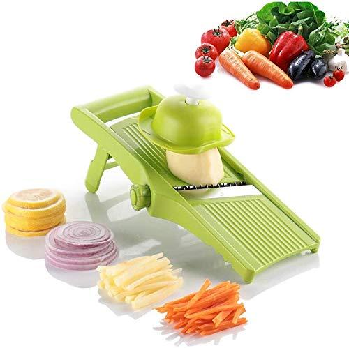 SHIJIAN Adjustable Mandoline Slicer by Chef's Inspirations Best for Slicing Food, Fruit and Vegetables Professional Grade Julienne Slicer