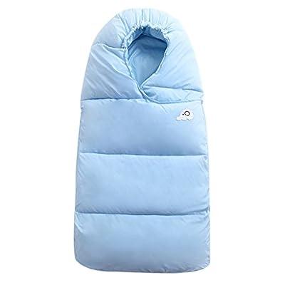 WYT Bebé Saco de dormir Para invierno Pluma abajo Algodón Grueso Recién nacido Envolverse Con Cremallera