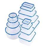 QCen Recipientes de Plástico Alimentos 26 Pieza (13 envase,...