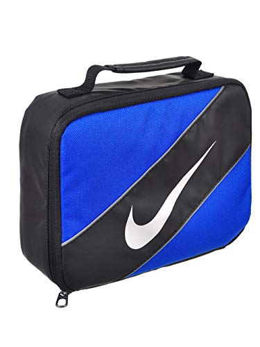 Nike Contrast Insulated Reflective Game Royal Tote Lunch Bag , Blue and Black , One Size