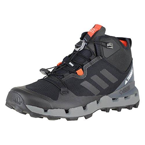 adidas Men's Terrex AX2R Mid GTX Hiking Shoe - Black/Black/Black 11.5