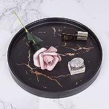 Marmor Deko Tablett für Schmuckablage,Keramik Dekoteller Im Nordic Stil Marmorschale Servierbrett für Schmuck Snack Aufbewahrung Display,Servierteller für Schlafzimmer Wohnzimmer… - 4