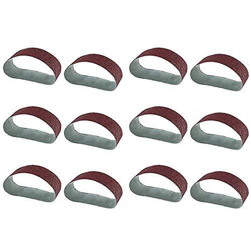 DONDOW Polaco 12 unids/set molienda de lijado cinturones amoladora Accesorios grano óxido de aluminio para lijadora de pulido máquina de repuesto herramienta abrasiva