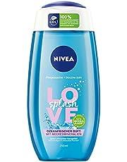 NIVEA Verfrissende douchegel Love Splash (250 ml), met zeemineralen, douche met oceaanfrisse geur en fluweelzacht schuim