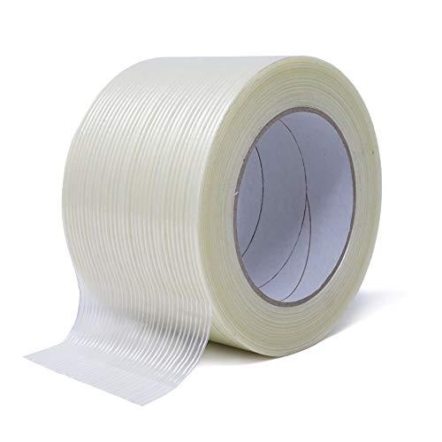 Gws - Cinta adhesiva de filamento en dirección longitudinal reforzada con fibra de vidrio, longitud 50 m, anchura 75 mm