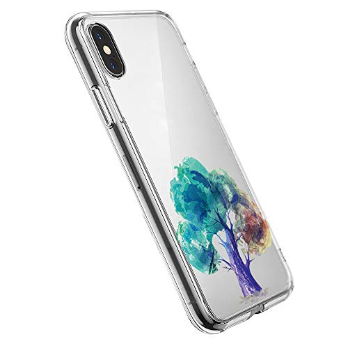 Pacyer case compatibel met iPhone X XS hoes silicone ultra dun transparant telefoonhoes achterkant TPU iPhone X XS beschermhoes voor Apple iPhone X Case Cover