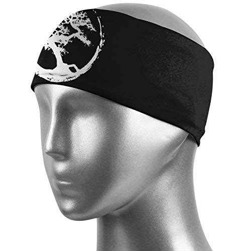 Zen Bonsai Tree in Enso Circle Sports Anti-Sweat Band Neutral Outdoor Sports Headband Fitness Perspiration Headband
