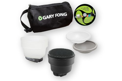 Gary Fong Portrait Lighting Kit - Difusor para Flash, Blanco y Negro