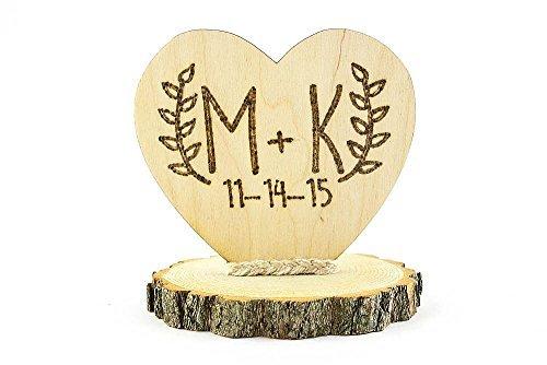Personalized Wood Custom Rustic Wedding Cake Topper