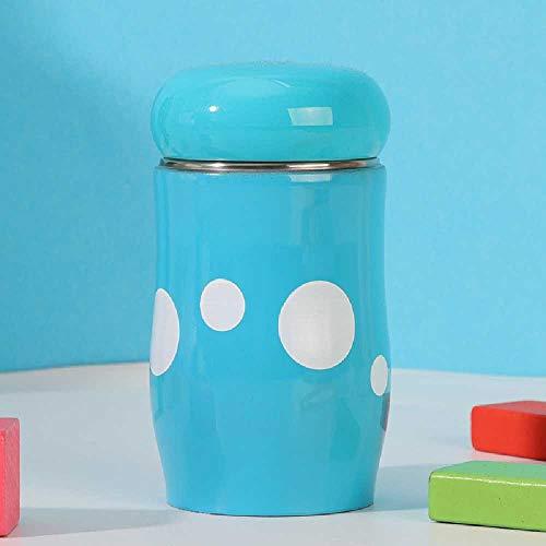 xiaojiangqi Tazza Per Bambina Isolata Tazza in Acciaio Inossidabile Tazza Per Funghi Portatile 220 ml/blu