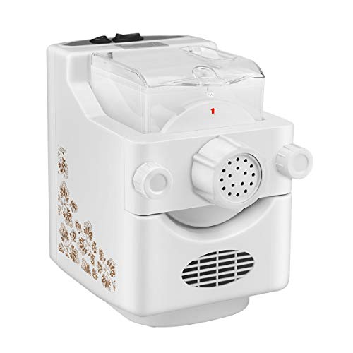 Electric Pasta Maker Machine, Kacsoo Automatic Household Multifunctional Noodle Making Machine for Fresh Pasta Spaghetti Macaroni Dumpling Wrapper Fettuccine (UK Stock) …