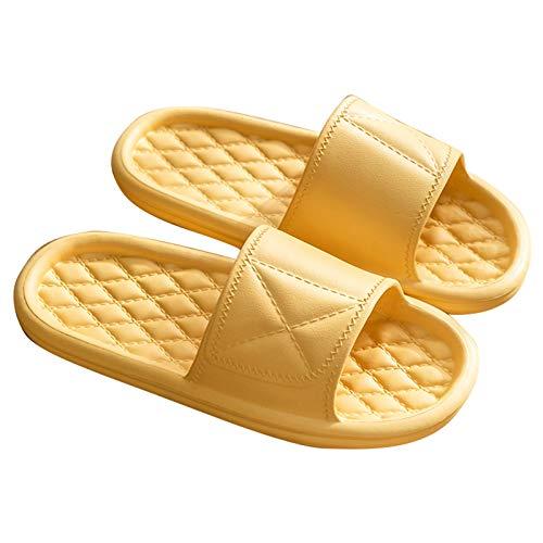Zapatillas de Estar por Casa, Sandalias De Ducha para Mujer/Hombre Zapatillas De Baño Ligeras Sandalias De Interior Suaves Y Antideslizantes Casa Zapatos De P(Size:22.5~23cm/35~36EUR,Color:Amarillo)