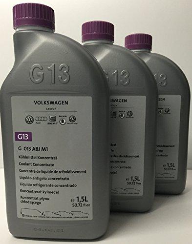 3 X Liquido anticongelante/refrigerante Puro G13 Original Vokswagen envases de 1.5 LTS (cantidad: 4.5 litros)