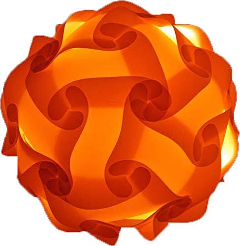 Lámpara de techo de diseño decorativo (17 cm), diseño de puzzle, color naranja