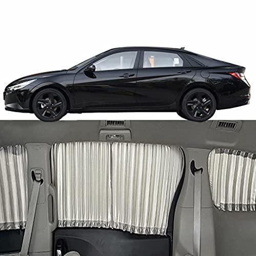 QCYP Parasol De Coche Adecuado para Hyundai Elantra 5-Ventanas 2021 Parasol para Parabrisas Cortinas De Sombra