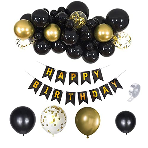 JCSKY Balloon Arch Kit,Balloon,Is For Baby Shower Birthday Party Decorations,Birthday Party Supplies Kit,black